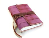 SALE Leather Journal Pink Leather Hand Bound Notebook - Blush - Christmas in July, ChristmasinJuly Cij sale