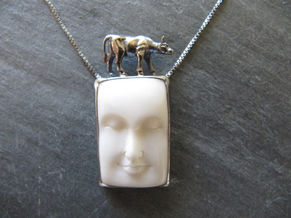 The Cow Jumped Over the Moon Necklace