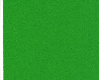 Pure Wool Felt Sheet - Bright Green - Quarter Metre / Half Metre - EN71