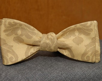 Gold Jacquard  Bow Tie