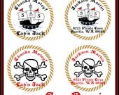 PIRATE Collection Stickers- Return address, envelope seals, party favors