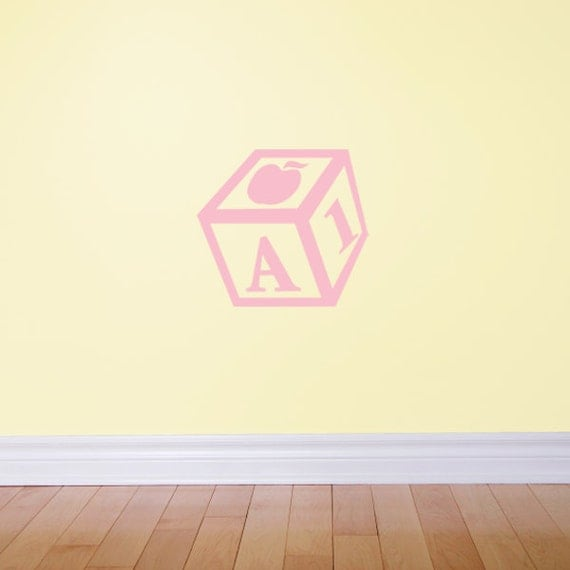 """Letter """"A"""" Toy Block - Wall Decal"""