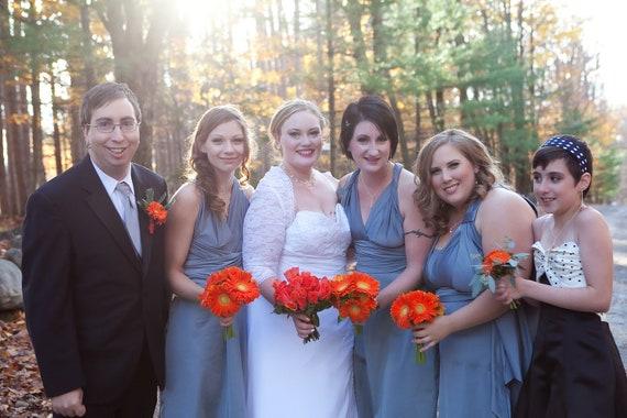Custom Listing Becca/Diana Matte Steel Gray Wrap Twist Dress...Prom, Bridesmaids, Cocktail Party, Wedding, Beach, Honeymoon