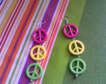 Peace Sign dangles
