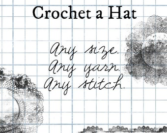 Crochet a Hat Workbook Pattern  Design Your Own PDF