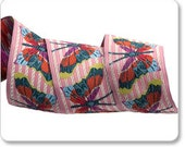 Pink Stripe Petaloutha Butterfly Jacquard Ribbon by Anna Maria Horner 1 1/2 inch width (38 mm) - 1 yard