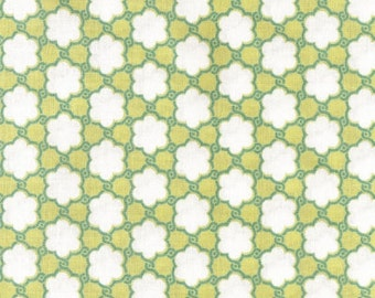 SALE Bohemian Clover Flowers in Avocado Green AT61 by Annette Tatum for Free Spirit Fabrics - 1 yard