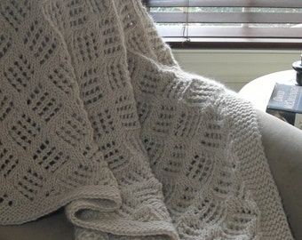 Wedding Gift Knitting Patterns : ... Knitting pattern for blanket afghan - easy pattern no charts - wedding