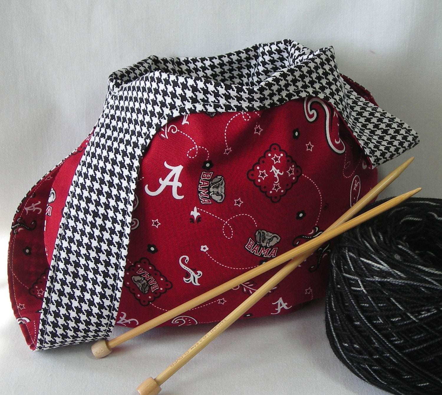 Crochet Japanese Knot Bag Pattern : Japanese knot bag knitting crochet sock project bag Univ.