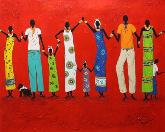 "Circle of love"" Original Art  Painting   Abrstract Acrylic  Modern  - Art by Maite"