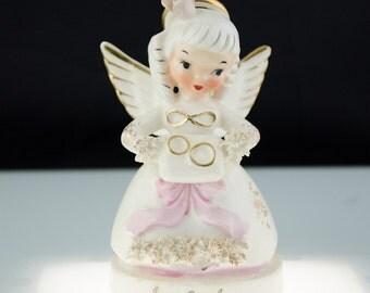Souvenir of Villa Capri Motor Hotel Austin Texas Angel Figurine ca 1960