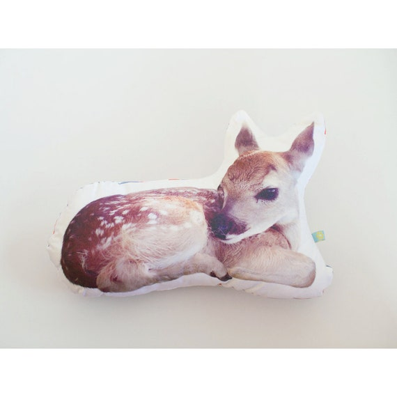 Deer pillow photo cushion XL