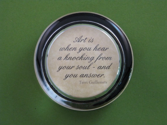 Art Quote Quote Paperweight Graduation Gift Round