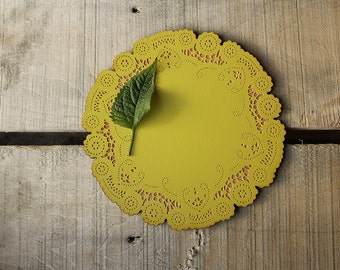 mothers day gift - wood doily - table decor - hostess gift - housewarming gift - 10 dollar gift