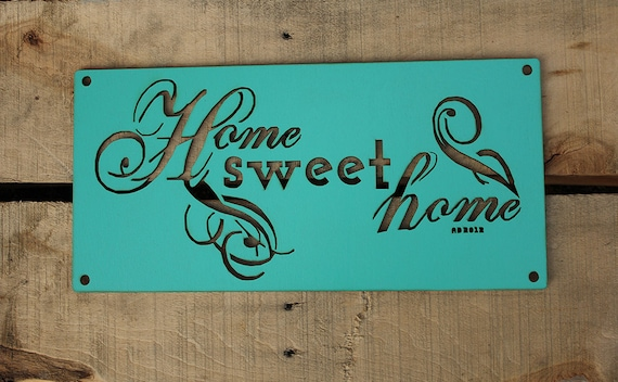 Wall Decor Under 20 : Items similar to home sweet old fashioned wall art