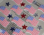 Jolee's Boutique JULY 4th Repeats - AMERICAN Flag Stickers - USA Scrapbook - Independance Day Scrapbooking Embellishments