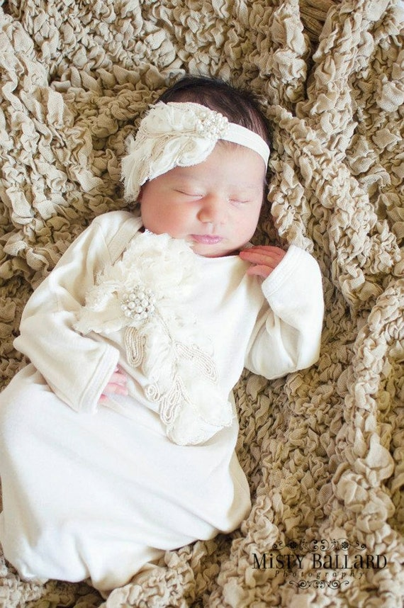 Gorgeous Take me Home Outfit Gown in Vintage Ecru Ivory