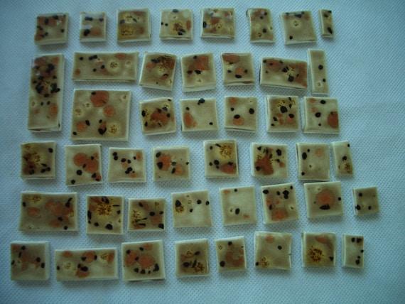 45S - LARGE 45-pc SAFARI Squares - Ceramic Mosaic Tile Set