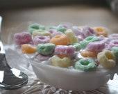 Food Soap - Fruit Loop Vegan Breakfast Cereal Novelty Soap - Froot Loops - Cereal - Breakfast - Kids Soap - Children- Fake Food - Food Prop