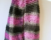 Hand Knitted Chunky Chenille Scarf