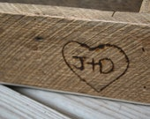 Custom Wood Burning for Your Initials on Any Wooden Piece in our Shop