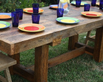 YOUR Custom Made Rustic Reclaimed Barn Wood Farmhouse Dining Table or Conference Table FREE SHIPPING - WFDT1500D