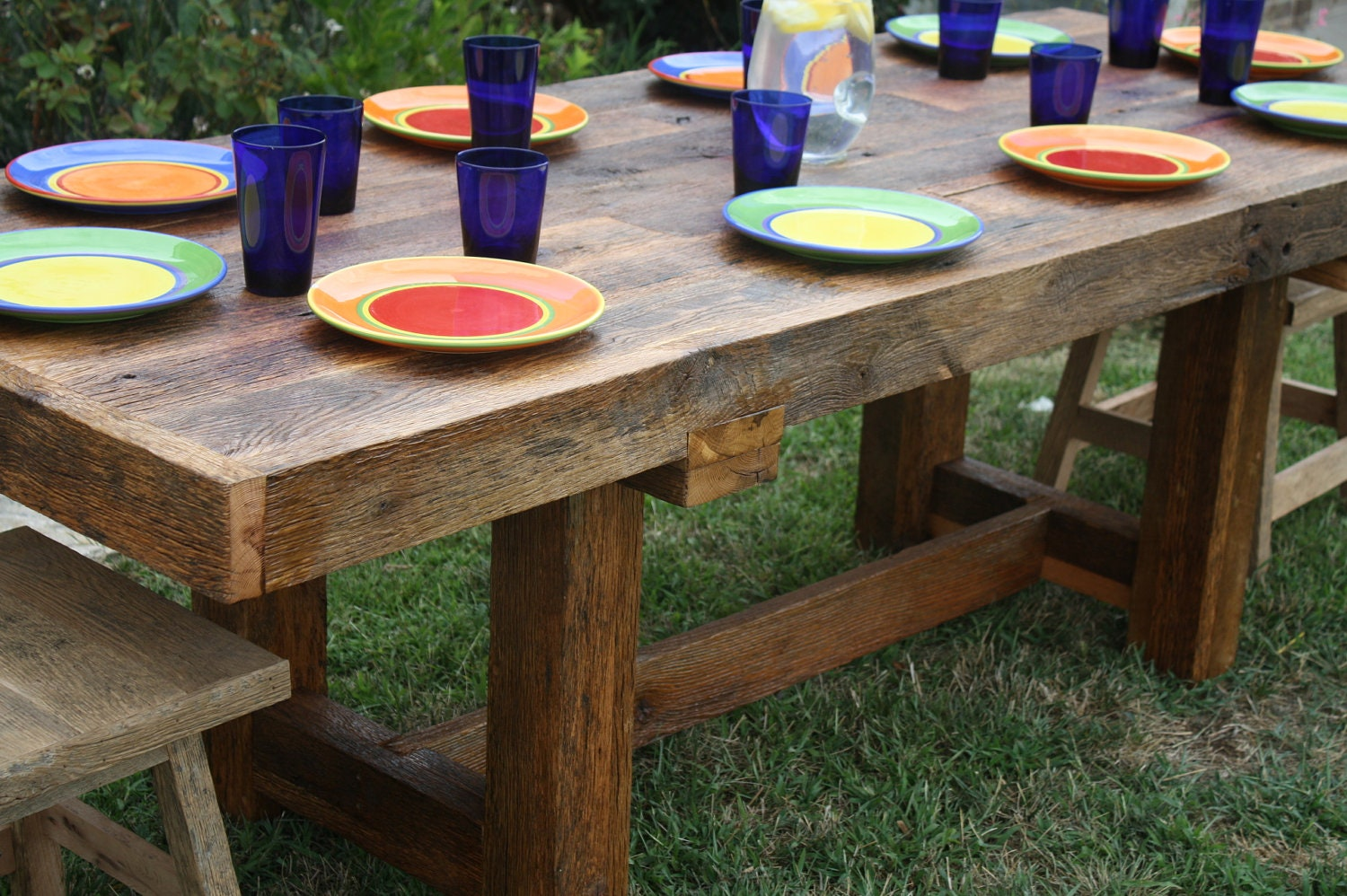 Your custom made rustic reclaimed barn wood farmhouse dining Rustic wood dining table