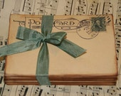 Wedding Guestbook Alternative - Vintage Post Cards -  Wedding Escort or Wedding Table Placecards - Wedding Wishes- 100