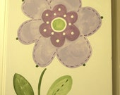"Baby nursery decor Children wall art Nursery art paintings Kids girls room decor Nursery 11 x 14 purple green white flower ""lilac bloom"""