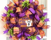 HaLlOwEeN wReAtH Slim Deco Mesh Purple Orange Lime Dahlias