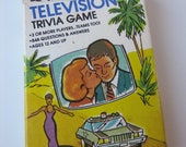 Vintage Television Trivia Game Cards 1984