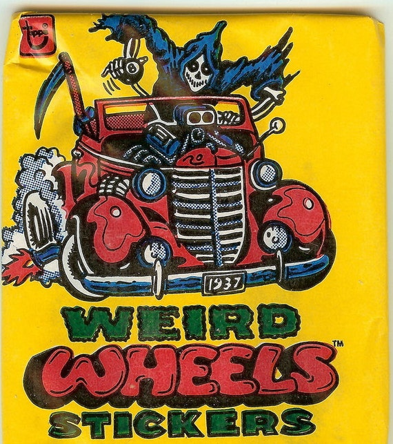 UNOPENED 1980 Weird Wheels Sticker Pack with 6 Cards