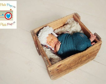 Teal Stretch Newborn Photo Prop Wrap Baby Girl or Boy Nubble Baby Wrap Photo Props, Baby Photography Prop, Newborn Props, Custom Photo Props