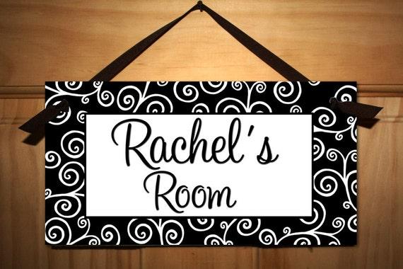 Lots Of Swirls Girl Teen Door Sign Kids Bedroom Playroom Wall