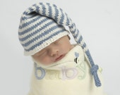 Baby Knitting Pattern -- Elf / Stocking Cap and Box Hat Pattern -- Digital Download -- Permission Granted to Sell Finished Product