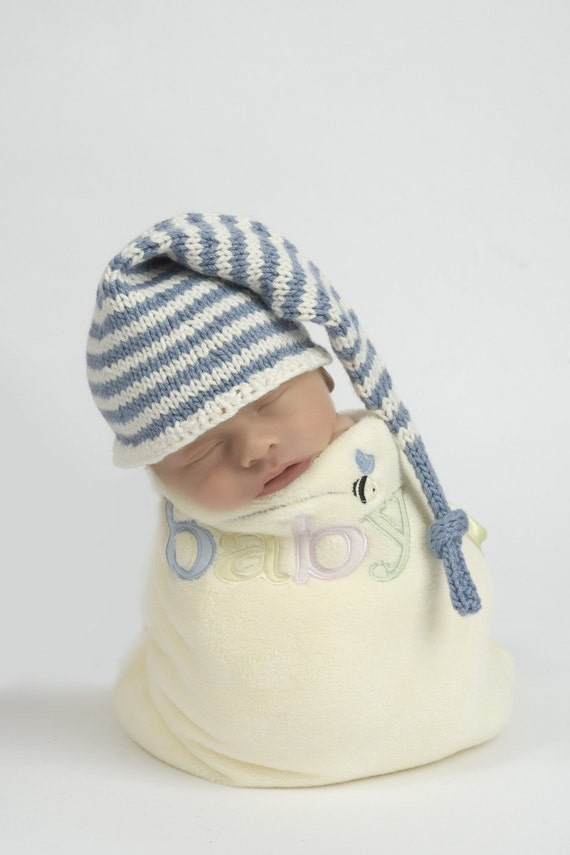 Knitting Patterns For Baby Elf Hats : Baby Knitting Pattern Elf / Stocking Cap and Box Hat