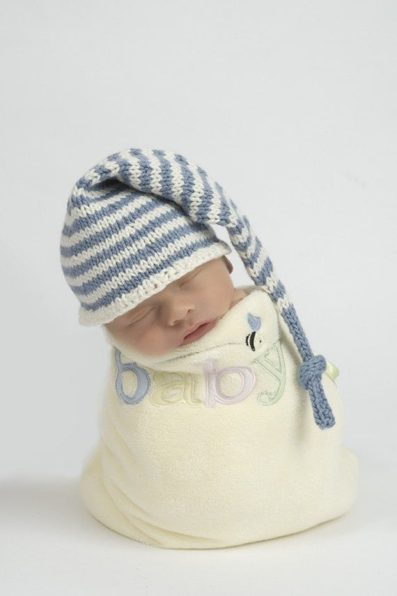 Knitting Pattern For Baby Elf Hat : Baby Knitting Pattern Elf / Stocking Cap and Box Hat