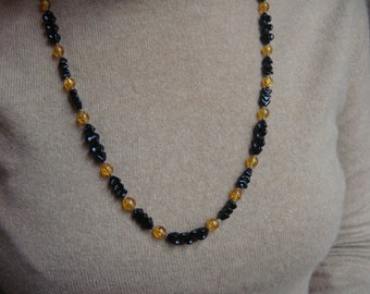 """20 """" long vintage glass beaded necklace"""