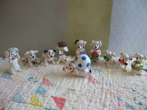 Sweet Lot of Vintage Disney 101 Dalmations Poseable Plastic Toys from McDonalds