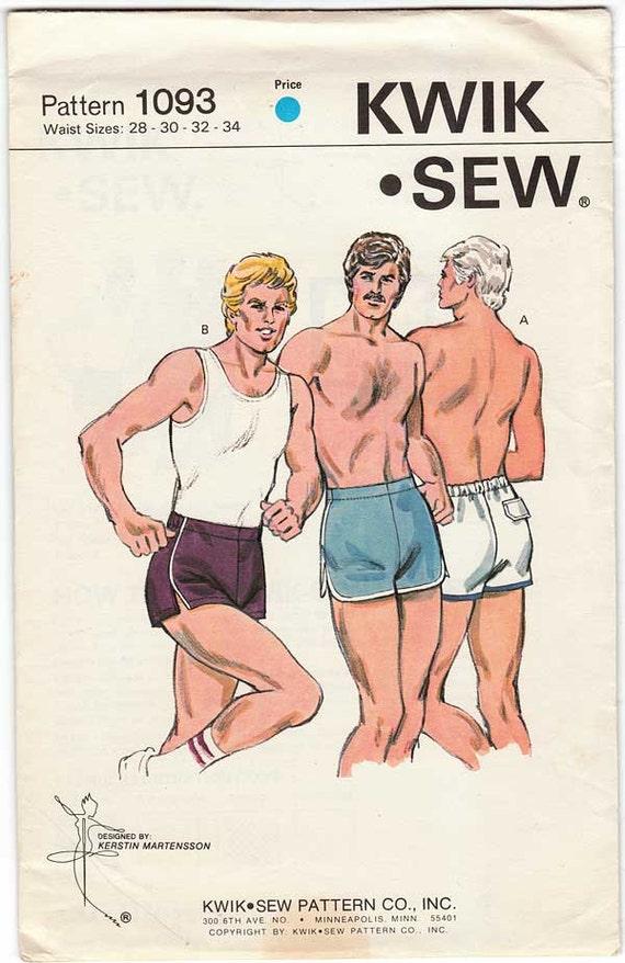 Athletic Men S Shorts Pattern Kwik Sew 1093 Waist Sizes