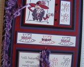 Fabulous Red Hat Society Stamped Notebook