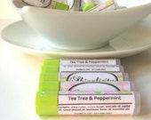 Tea Tree Lip Balm with mint- Healing...Herbal Lip Treatment with pure essential oils