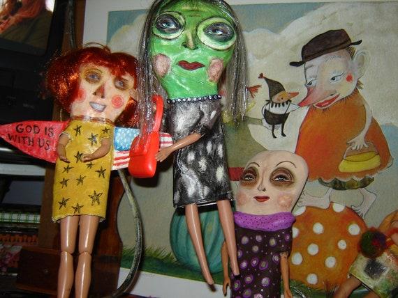 Folk Art Witch Art Doll Halloween ornament witch doll
