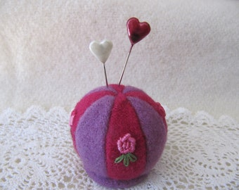 Pincushion Pieced and Embroidered