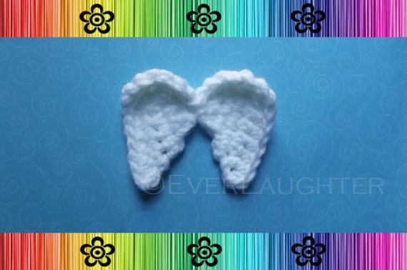 Crochet Pattern Angel Wings : Angel Wings Applique CROCHET PATTERN PDF