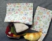 Reusable Sandwich N Snack Bag Set, Wild Flowers Print