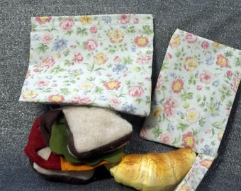 Reusable Sandwich N Snack Bag Set, Wild Flowers Print