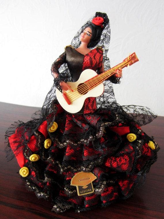 Vintage Dolls 1960 1960s Grain Flamenco Doll