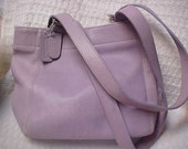 90's Lilac leather COACH tote- shoulder bag