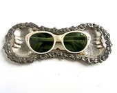 Antique silver small tray - foyer table key caddy/sunglass holder - vanity jewelry tray - earring holder